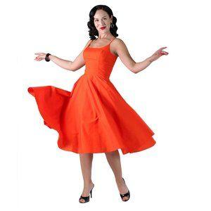 Tatyana Peggy Fit & Flare Midi in Orange